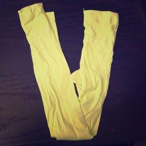 Pants - Neon yellow leggings NWOT